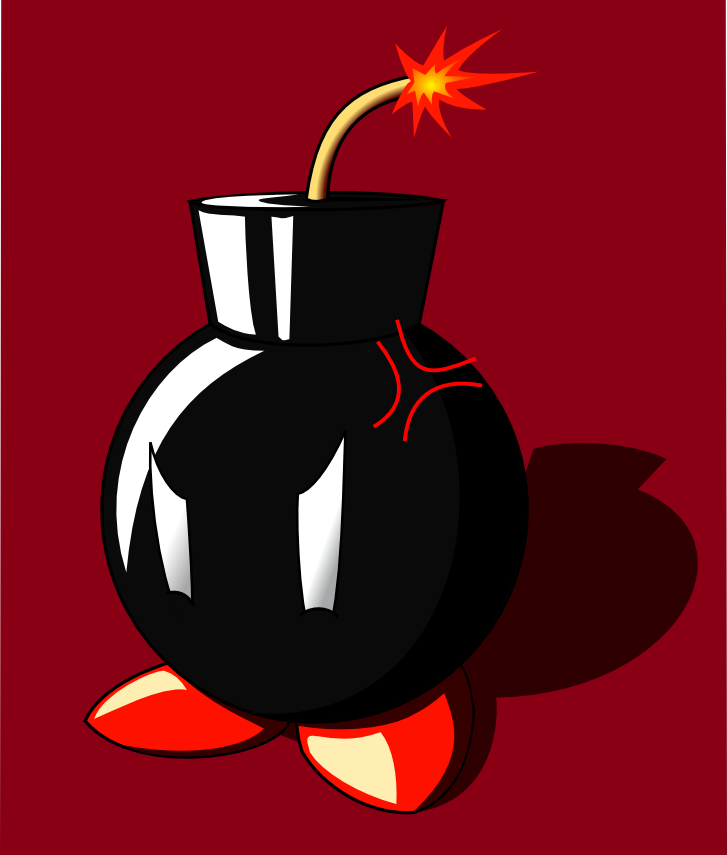 how to draw bomb omb