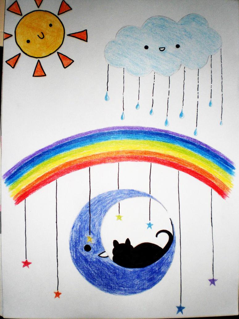 dreaming kitten by HardStyleKitty