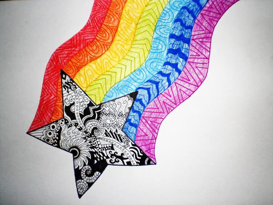 rainbow star by HardStyleKitty