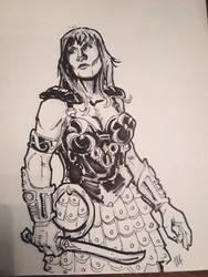 Xena sketch by FreshNightmare