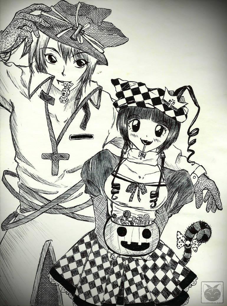 Halloween Couple By Villian Kucingkecil On Deviantart