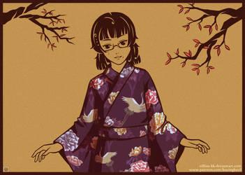 Purple Kimono by Villian-KucingKecil