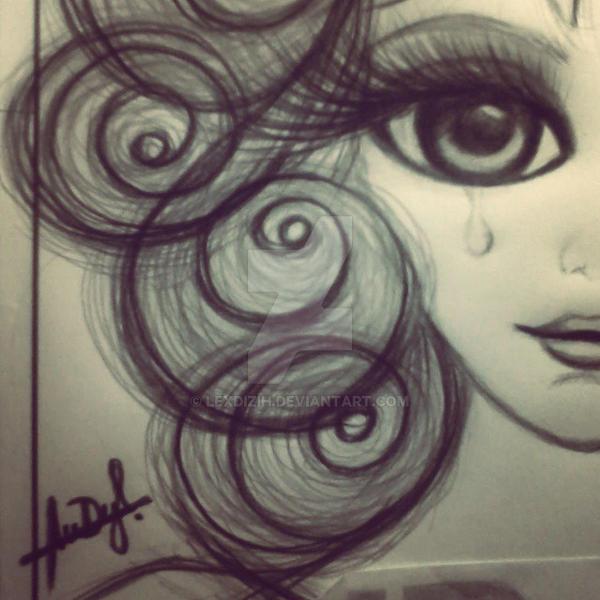 big eyes sketch by lexdizih on deviantart