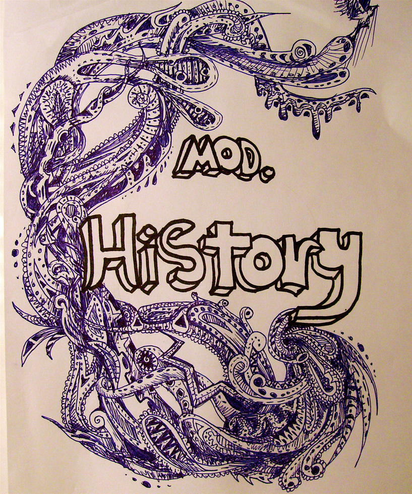 Cool Designs To Draw On Your Binder Modern History Binder ...