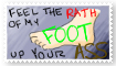 Foot Up Yours - Stamp by Keru-chan11