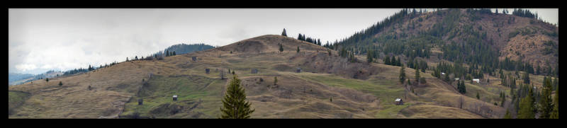 Mountainside panorama by Azette