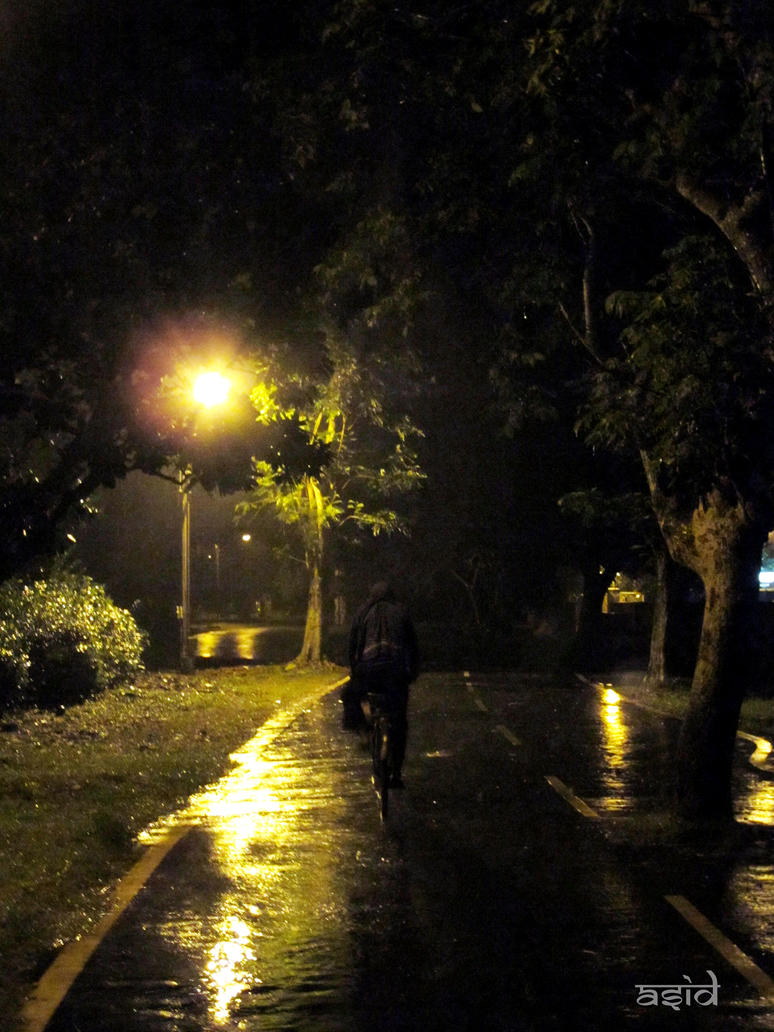 Rain Lights And A Lonely Night By Dreamersid On Deviantart