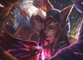 Xayah And Rakan - League of Legends by JamesExcalibur