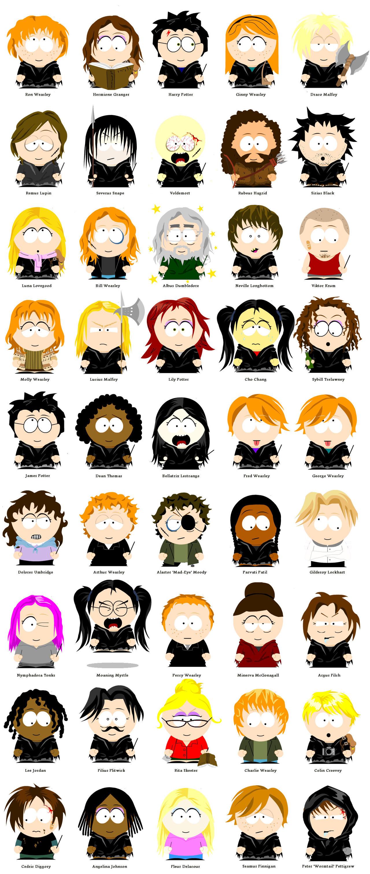 Harry Potter - South Park by Sam-x-Frank