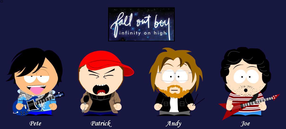 Fall Out Boy - South Park by Sam-x-Frank