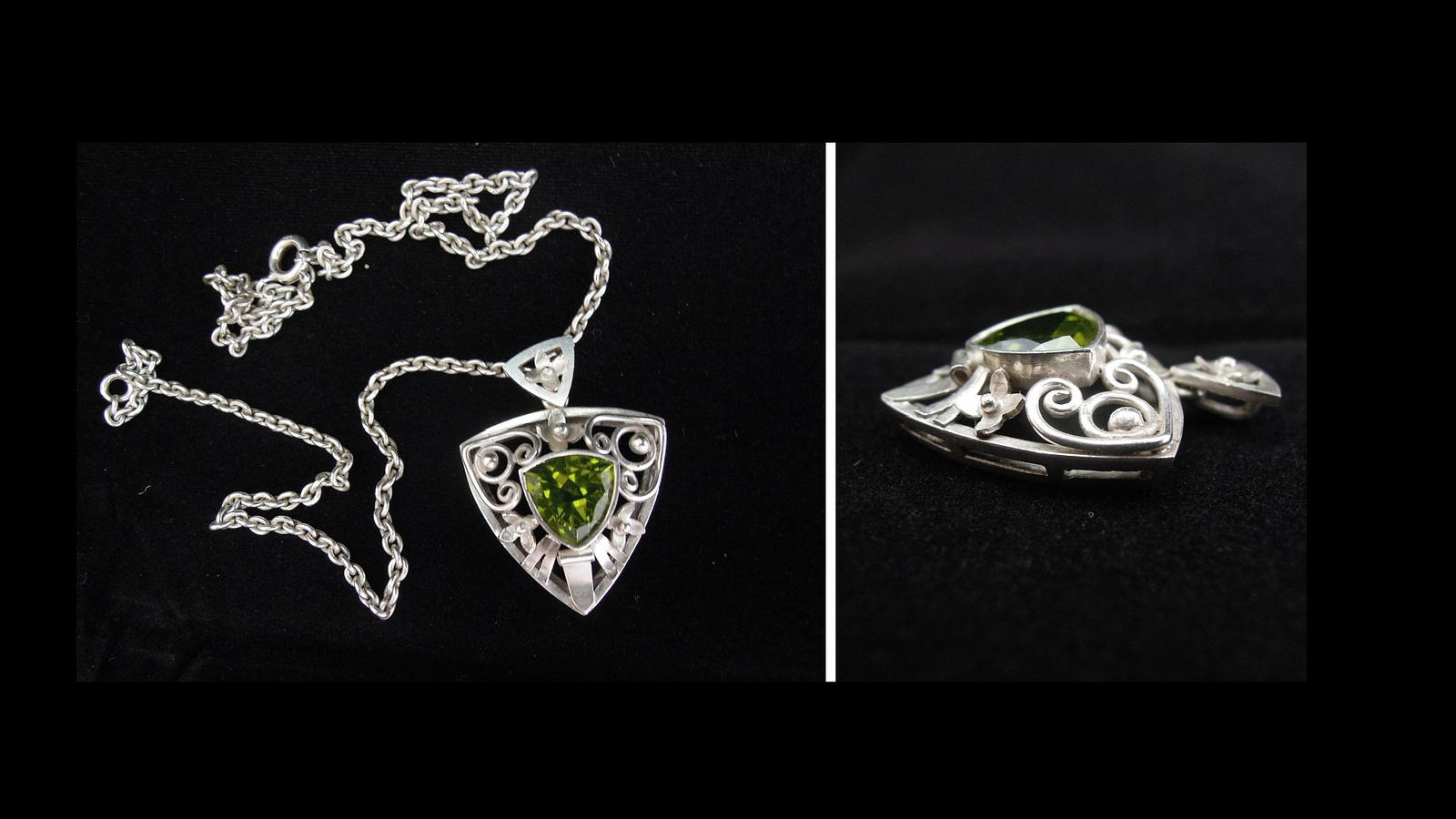 Baroque pendant with peridot by ladiane