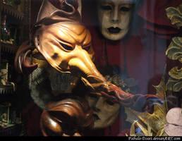 Venetian Masks at showcase by fabula-docet