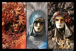 Venetian masks: Three Ladies by fabula-docet