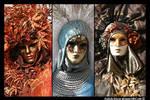 Venetian masks: Three Ladies
