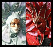 Venetian Masks: Angel Demon by fabula-docet