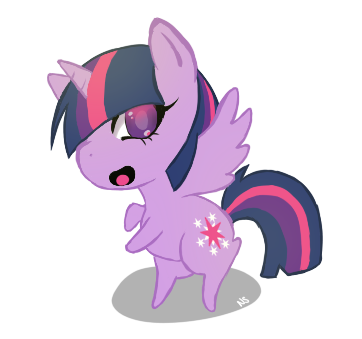 [MLP] Chibi Twilight Sparkle by nekoslipknot