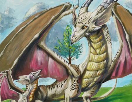 stripe dragon