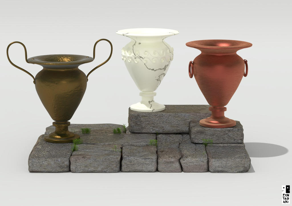 Tres vasijas by zentaoaki