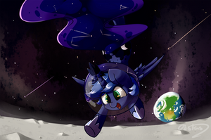 Moon jumps by Bloodatius