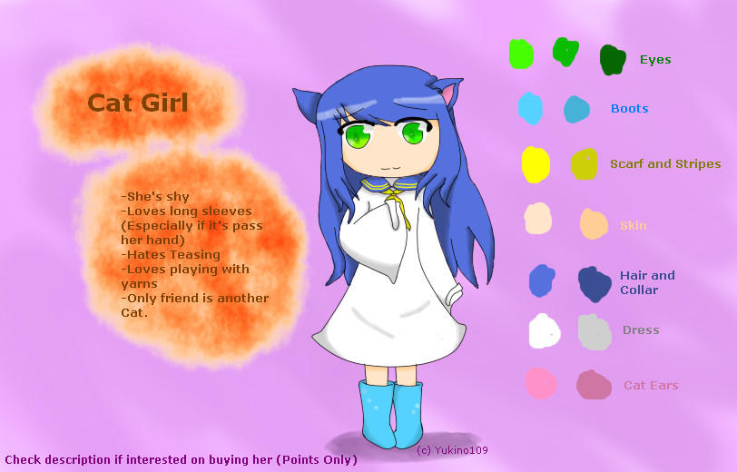 Cat Girl .:Adoptable Open:.