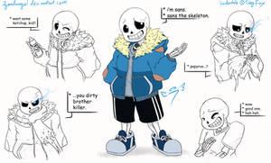 * sans the skeleton
