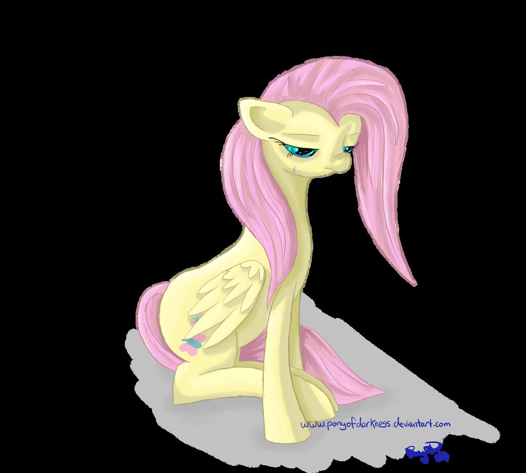 [Sketch] Sad Fluttershy by GlacialFalls