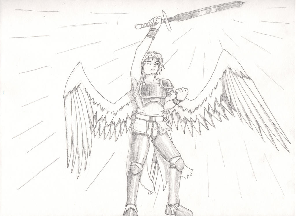 Warrior Angel Drawing by Soldiers-of-Legacy on DeviantArt