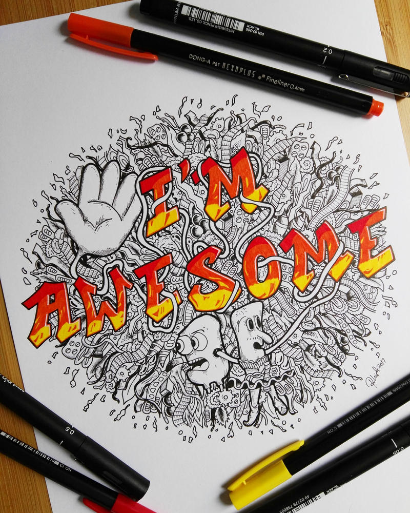 Doodle Art Im Awesome By Rshdoodles
