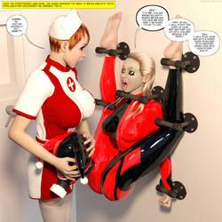 Harley Quinn In Rubber Bondage Catsuit by lindadb