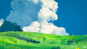 Ghibli style landscape