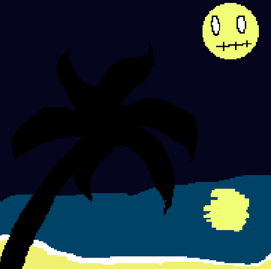 night at the beach by typical-gamin-loser