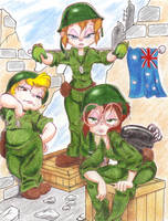 Chipettes At War colored by CTW36