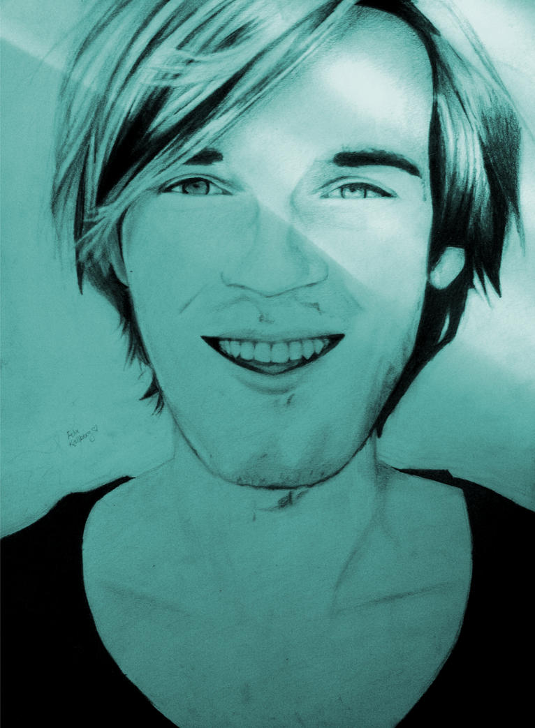PewDiePie (Felix Kjellberg) Portrait by iWishiWereInvincible