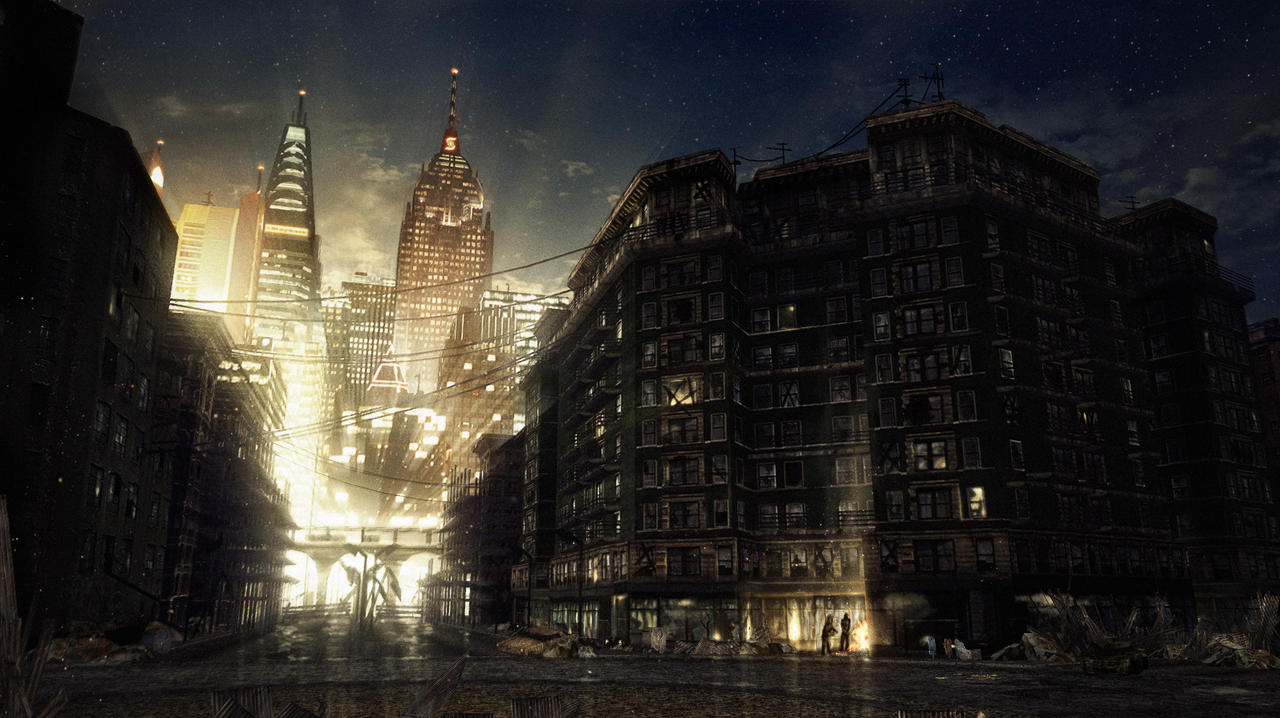 speedpaint industrial city by - photo #31