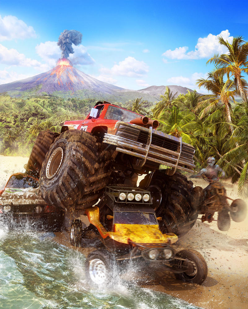 Motorstorm:Pacific rift boxart by radoxist