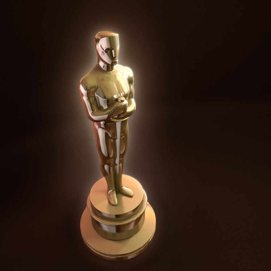 Oscar Statue 3d Model Award By Radoxist