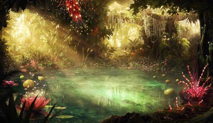 Mystical pond jungle by radoxist