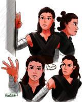 Rey Sketches by GeMIkanXIII
