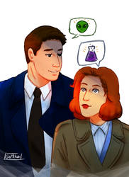 Mulder and Scully by GeMIkanXIII