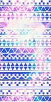 Custom Box Galaxy Aztec Background