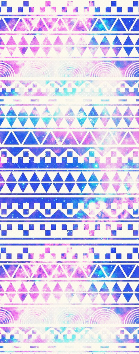 Custom Box Galaxy Aztec Background by LizzyWolfFire6