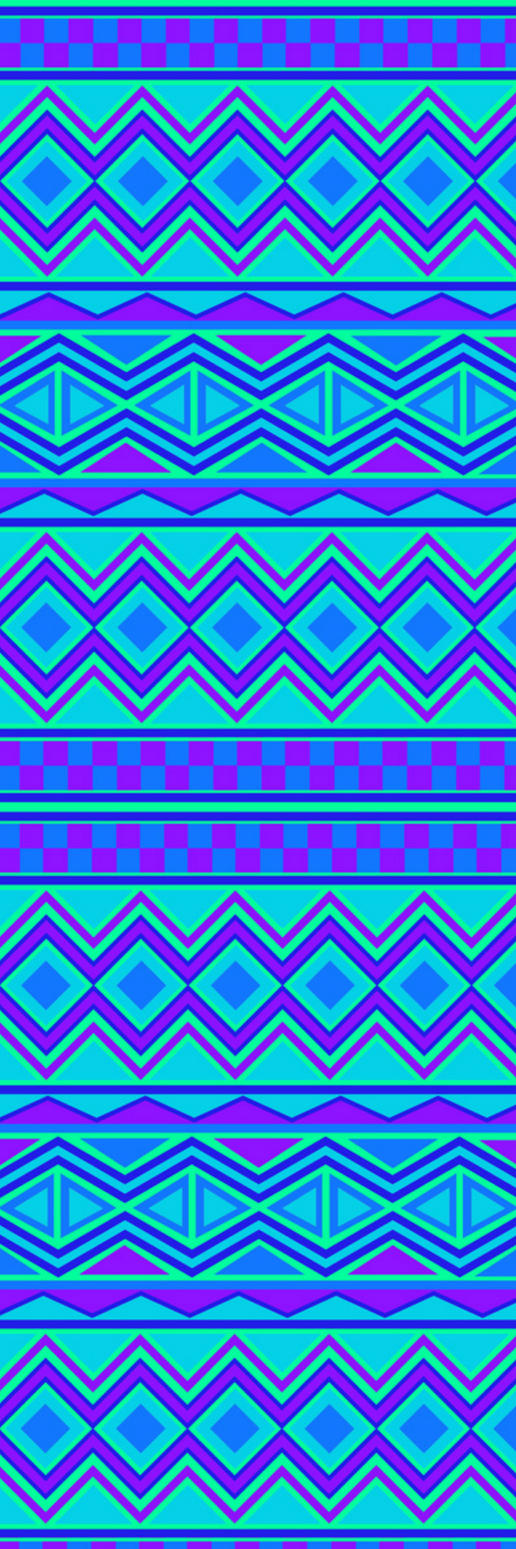 Blue Tribal Print Custom Box Background by LizzyWolfFire6
