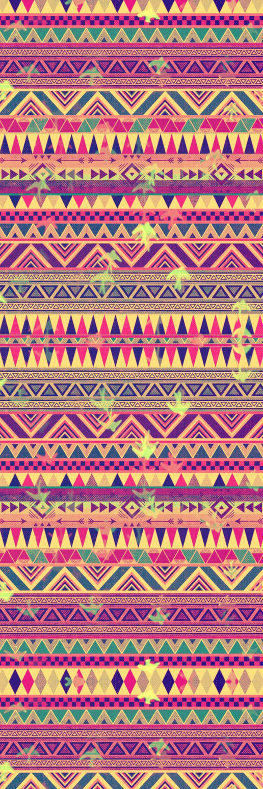 Tribal Print Custom Box Background by LizzyWolfFire6