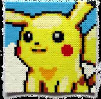 Pikachu Perler Portrait by Aenea-Jones