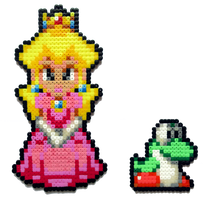 Peach and Baby Yoshi by Aenea-Jones