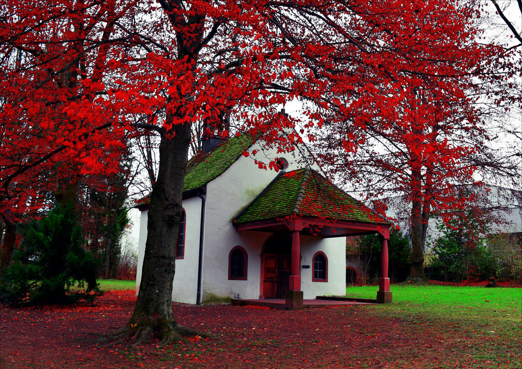 Chapel by the Red Tree by Aenea-Jones
