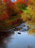 River in Fall by Aenea-Jones