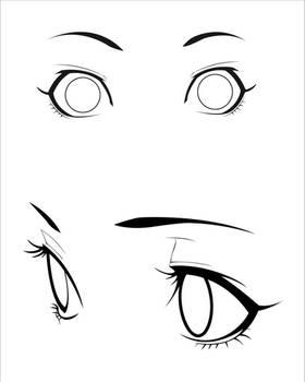 Anime Eyes Stock - surprised + calm [female]