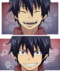 Rin Okumura [Blue Exorcist] by Aenea-Jones