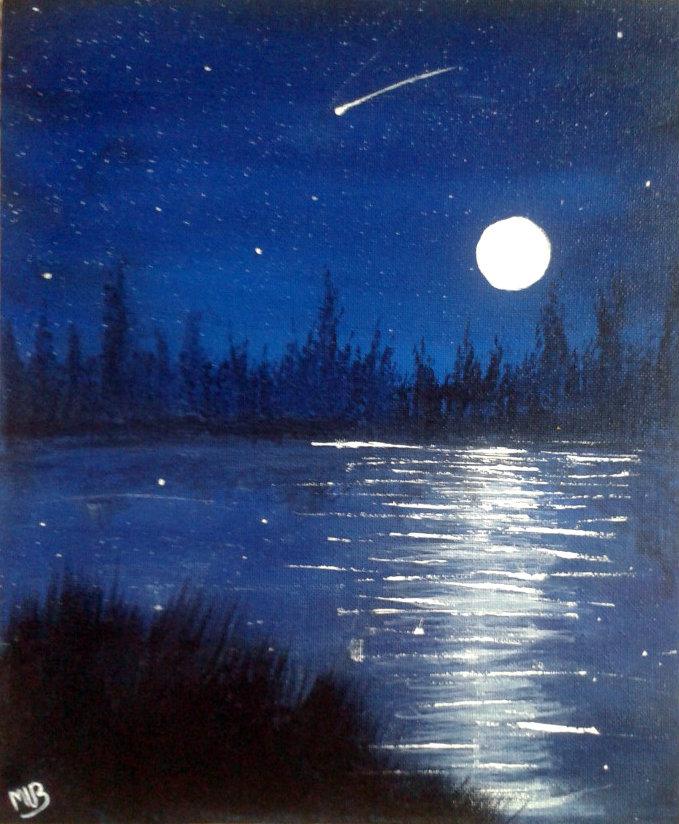 easy night scene paintings -#main